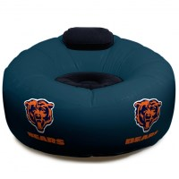Chicago Bears NFL Vinyl Inflatable Chair w/ faux suede ...
