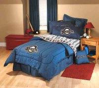 Milwaukee Brewers Queen Size Team Denim Comforter / Sheet Set