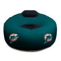 Miami Dolphins NFL Vinyl Inflatable Chair w/ faux suede ...