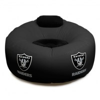 Oakland Raiders NFL Vinyl Inflatable Chair w/ faux suede ...