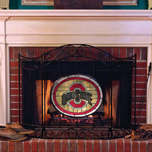 toddler bean bag chairs chair covers east yorkshire ohio state osu buckeyes ncaa college stained glass fireplace screen