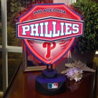 Philadelphia Phillies MLB Neon Shield Table Lamp