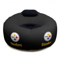 Pittsburgh Steelers NFL Vinyl Inflatable Chair w/ faux ...