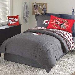 Toddler Table Chairs Panton S Chair Kansas City Chiefs Nfl Team Denim Full Comforter / Sheet Set