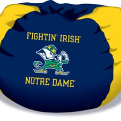 Foam Bean Bag Chair Peg Perego Prima Pappa Diner High Notre Dame Fighting Irish