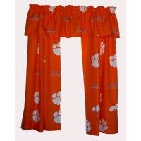 Clemson Tigers Short Window Drapes