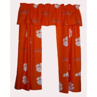 "Clemson Tigers Short Window Drapes - 63"""