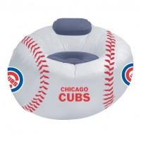 Chicago Cubs MLB Vinyl Inflatable Chair w/ faux suede cushions