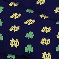 Notre Dame Fighting Irish 100 Cotton Sateen Shower Curtain Navy