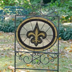 Fun Desk Chairs Hanging Chair Instructions New Orleans Saints Nfl Stained Glass Outdoor Yard Sign