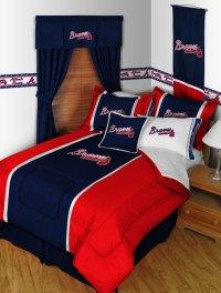Atlanta Braves MLB Microsuede Comforter / Sheet Set