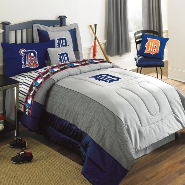 Detroit Tigers Mlb Authentic Team Jersey Bedding Queen