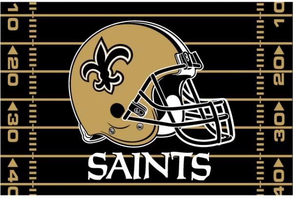 New Orleans Saints NFL 39 x 59 Tufted Rug