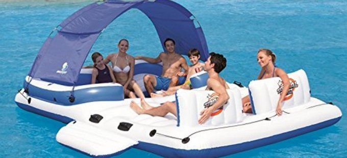 inflatable floating island family
