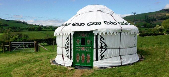 shropshire yurt glamping