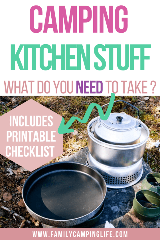 Family Camping Checklist Kitchen Gear