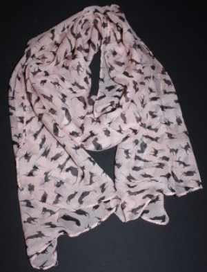 Cat Print Scarf Pink Black Family Clan Blog