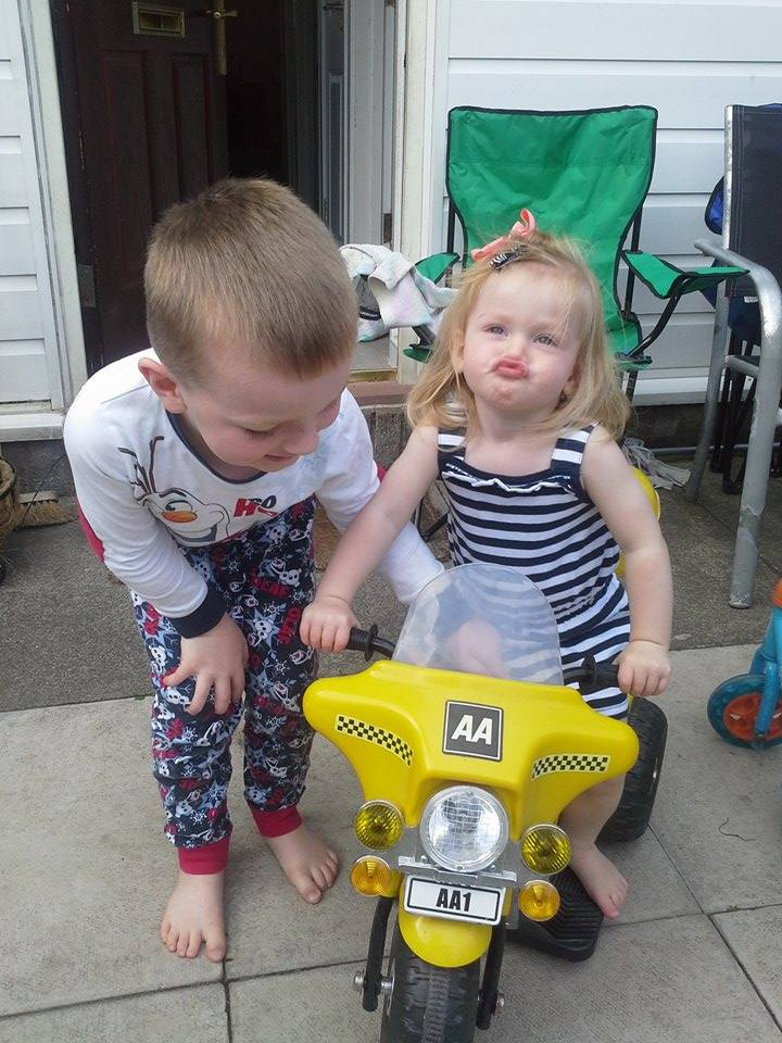 Family Clan Blog Jake & Grace on AA Bike