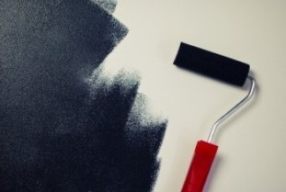 painting-paint-roller-black