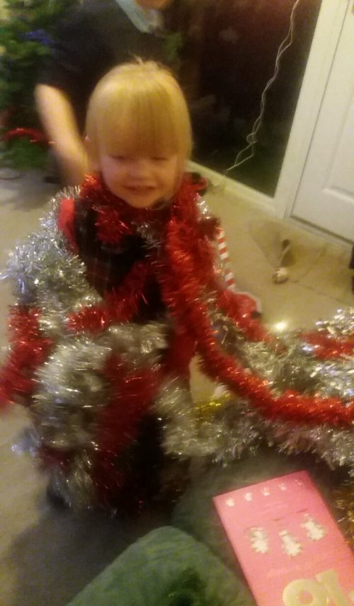 Grace as a Christmas Tree 2016 Family Clan
