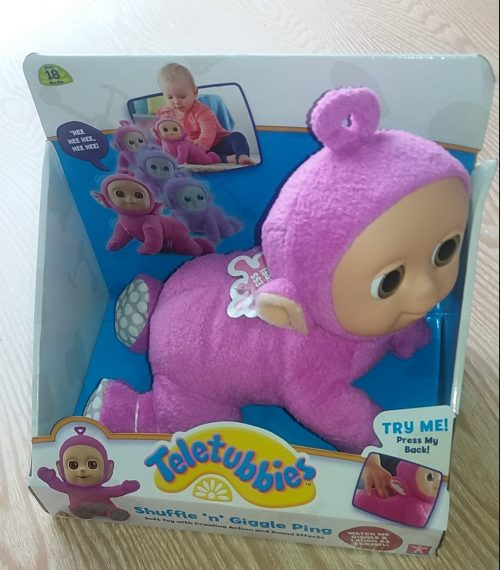 Shuffle n Giggle Ping Pink Tiddletubbies Review Family Clan