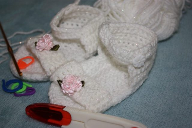 Summer Crochet Sandals for 3-6 Months Family Clan