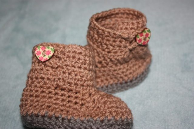 Uggs Inspired Crochet Boots for 3-6 Months Family Clan