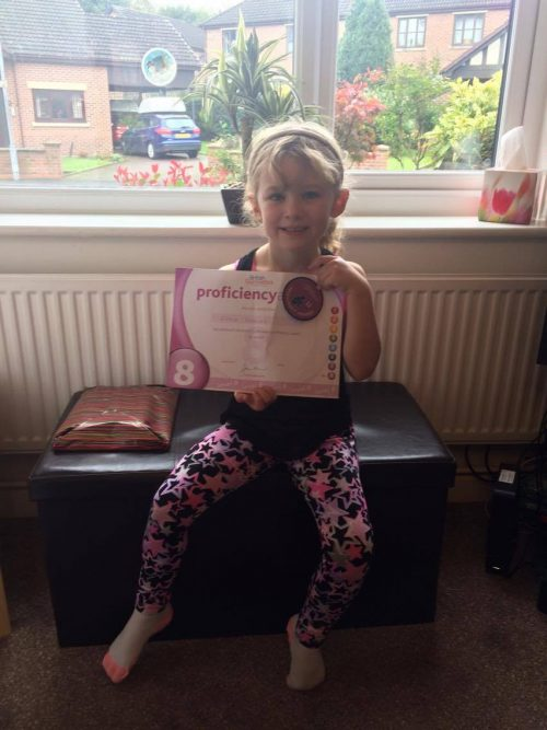 Olivia Gymnastic Certificate Sunday Snap 22nd October 2017 Family Clan