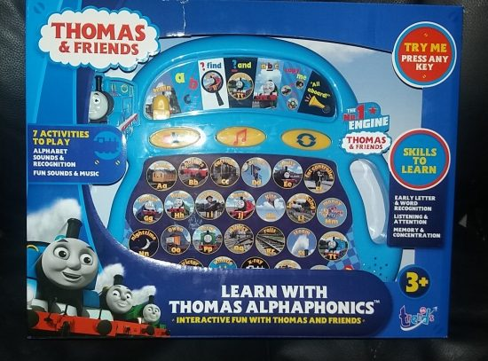 Learn with Thomas and Friends Alphaphonics Learning Aid Review by Family Clan