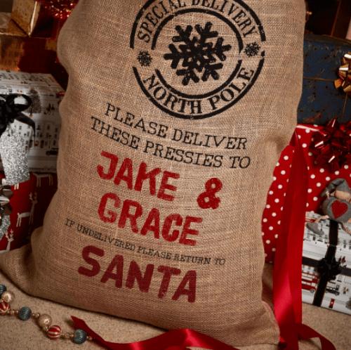 Christmas Pressies Santa Sack Presents Giftpup