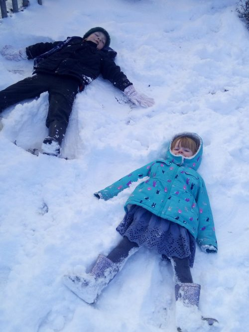 Making Snow Angels 27th Feb 2018 Family Clan