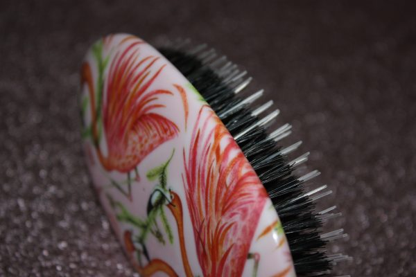 Rock & Ruddle Natural Hairbrush Pink Flamingo's Family Clan