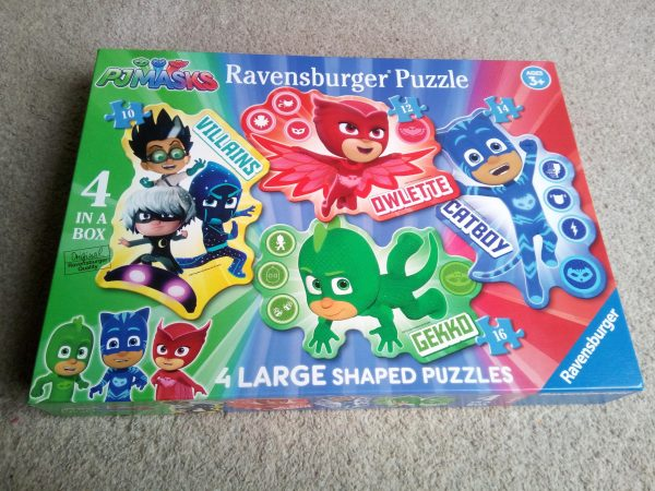 Ravensburger PJ Masks 4 Large Shaped Jigsaw Puzzles Review by Family Clan