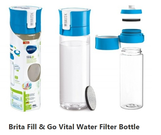 Brita Fill & Go Active Filter Water Drinks Bottle Family Clan (9)