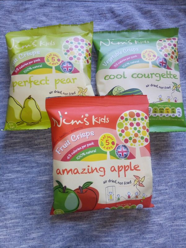 Nim's Kids fruity crisps review by Family Clan 2