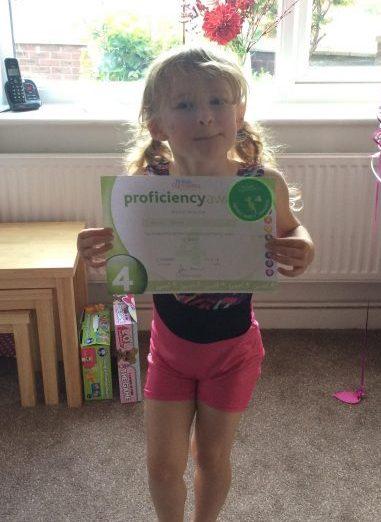 Olivia Gymnastics Proficiency Badge 4 Family Clan