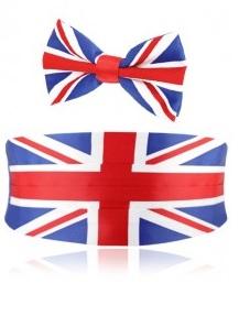 Dobell Union Flag Union Jack Cummerbund bow tie