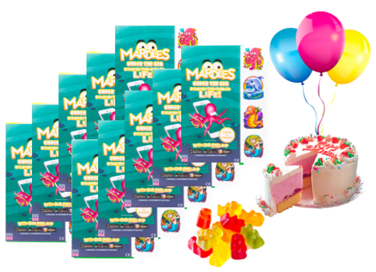 mardles party package gorup of 10