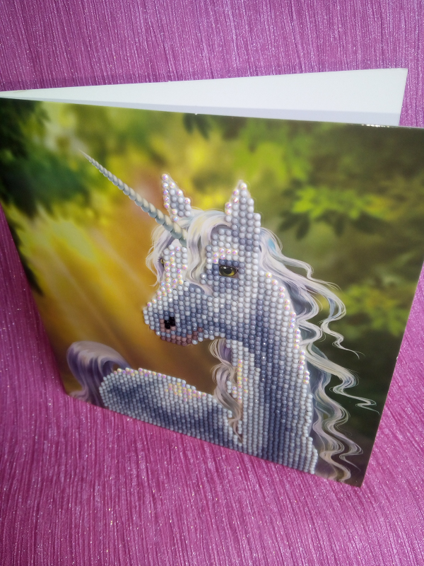 Crystal art Crystal Card Kit review by Family Clan