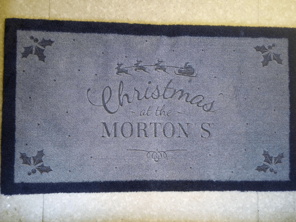 Giftpup.com Christmas Door Mat review by Family Clan 2