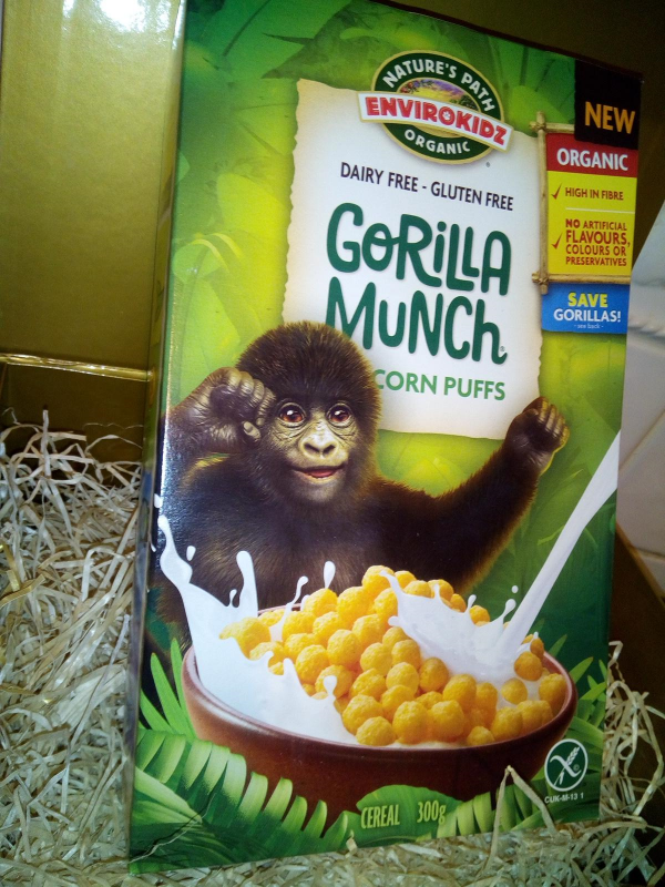 Gorilla Munch Nature's Path Envriokids cereal review by Family Clan