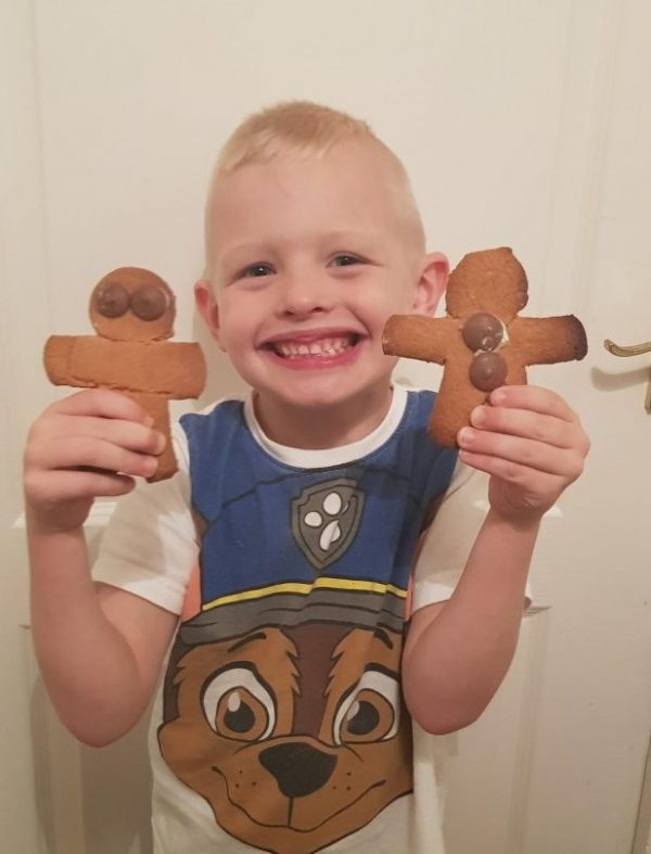 Very proud of his Gingerbread men Family Clan