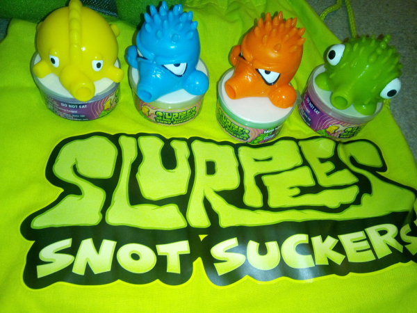 Slurpees Snot suckers Bandi review by Family Clan 7