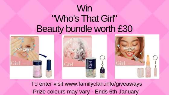 Who's That Girl Giveaway Family Clan