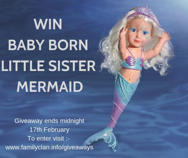 Baby Born Little Sister Mermaid Giveaway Family Clan