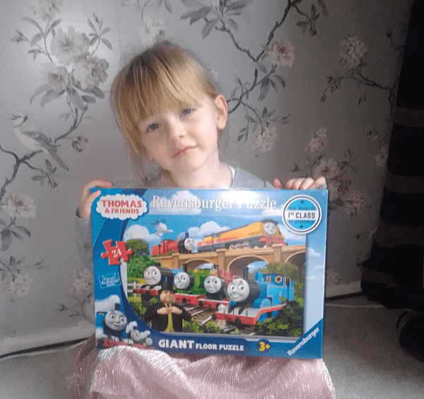 Ravensburger Thomas & Friends Big World big Adventures 24 piece floor puzzle review by Family Clan