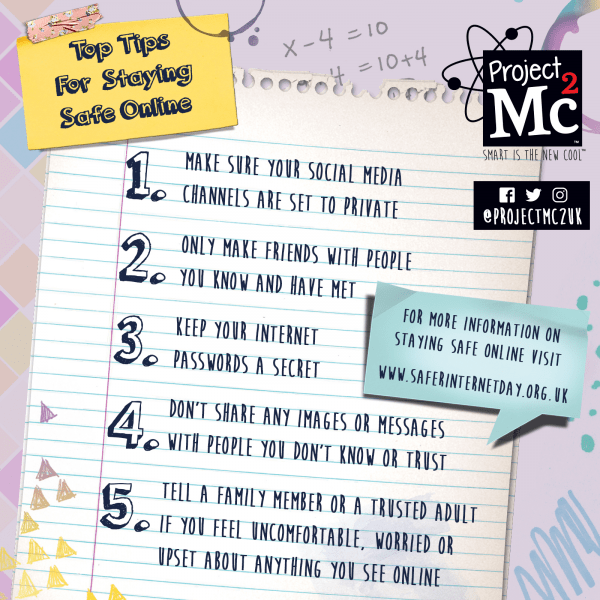 Project Mc2 top tips for Safe Internet Day Project Mc2 review by Family Clan