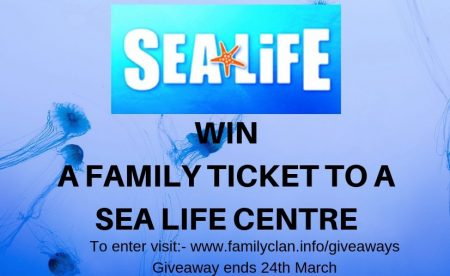 WIN A FAMILY TICKET TO A SEA LIFE CENTRE Giveaway Family Clan