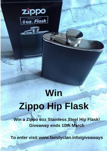 Win Zippo Hip Flask Giveaway Family Clan