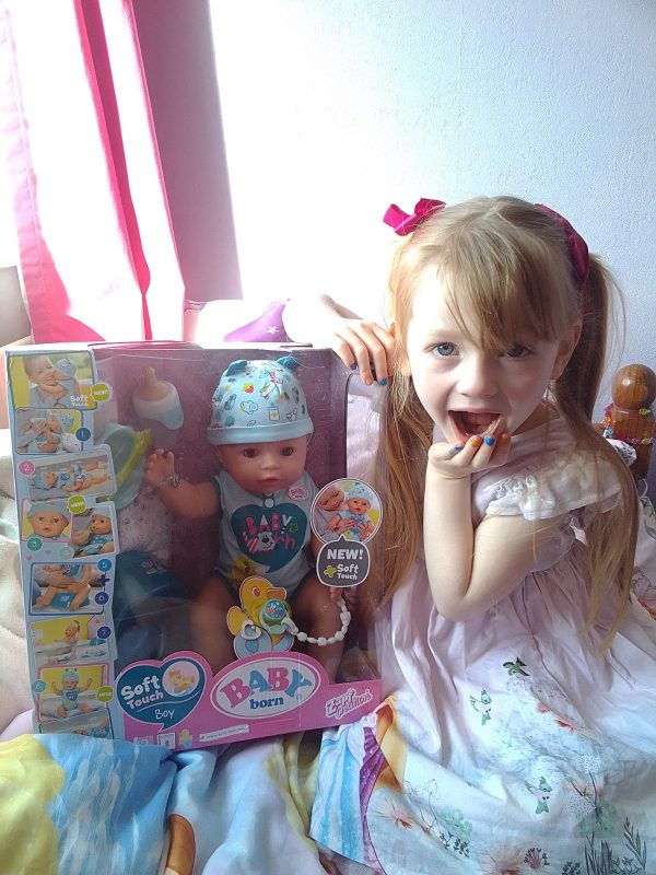 Baby Born Soft Touch Doll And Table Feeding Chair Family